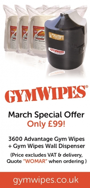 Gym Wipes March Special Offer, 3600 Wipes + Wall Dispenser - £99 + VAT