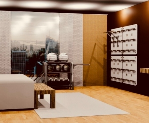 Hotel fitness at your fingertips with Training Wall®