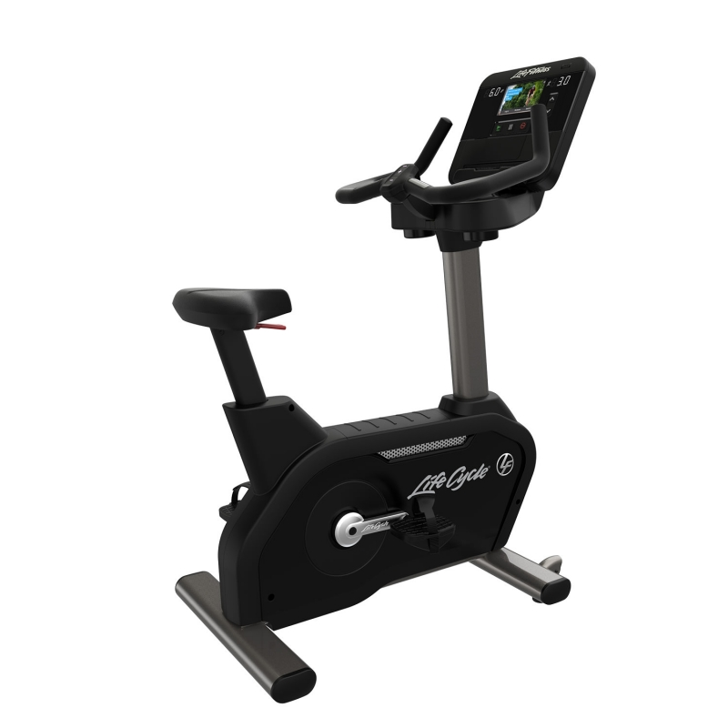 Life Fitness Club Series+ Titanium Upright Bike With DX Console