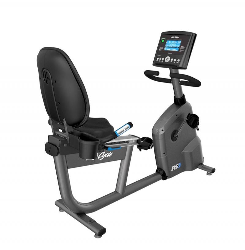 Life Fitness RS3 Recumbent Exercise Bike With Go Console (Titanium)