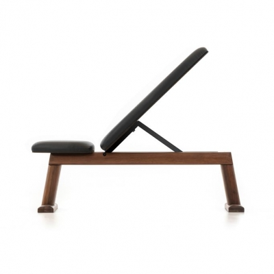 Weight Bench Walnut (Black Leather)