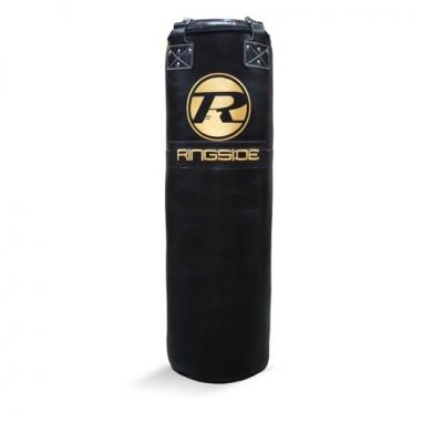 4FT Buffalo Leather Punch Bag - Black / Gold