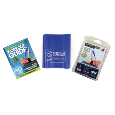 Medium Resistance Band With User Guide- Blue