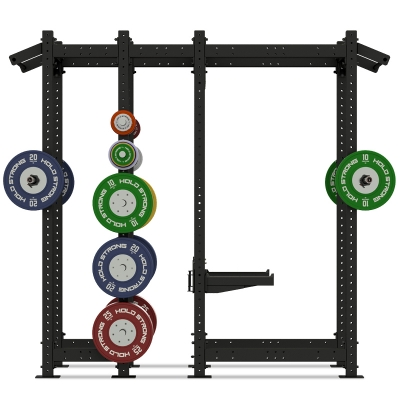 HOLD STRONG Fitness ELITE Double Rack incl. J-Cups and Safety Spotter