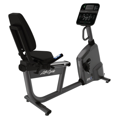 Life Fitness RS1 Recumbent Bike With Track Connect Console (Titanium)