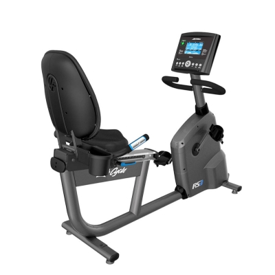 Life Fitness RS3 Recumbent Exercise Bike With Go Console (Titanium)